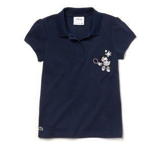 Girls' Lacoste Disney Minnie Embroidery Polo
